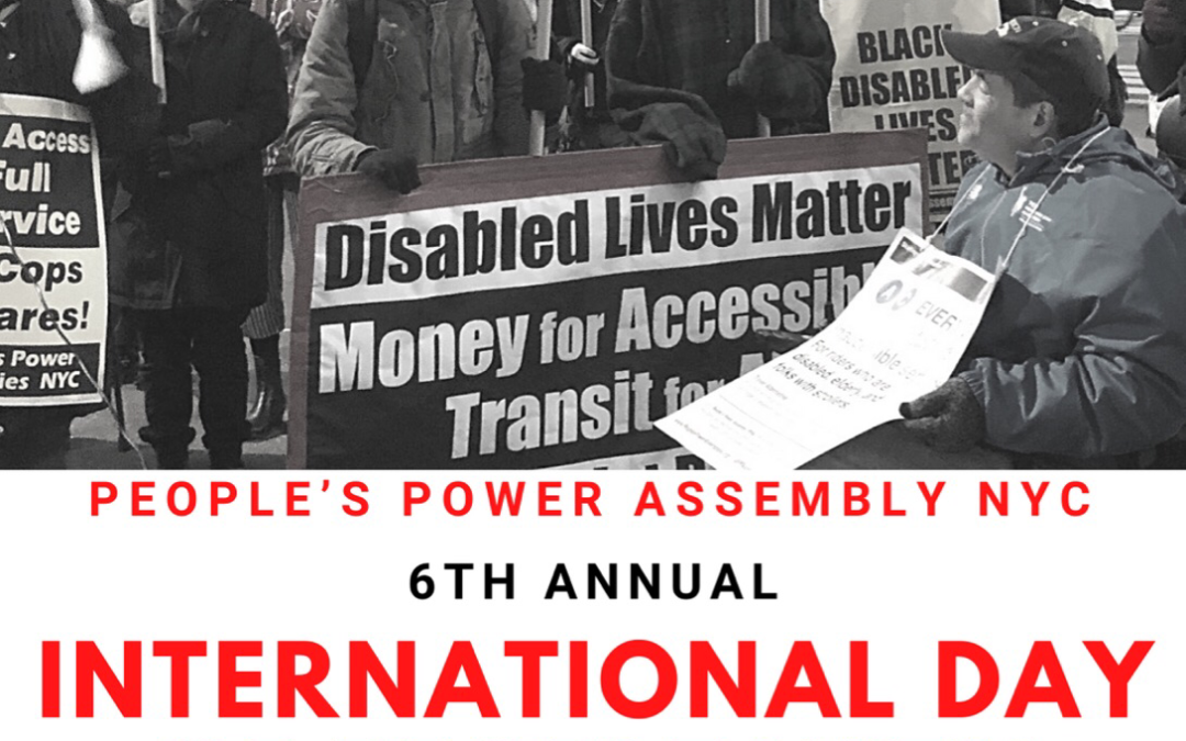 6th Annual International Day of People with Disabilities – On-line Event.
